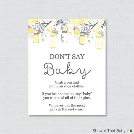 image regarding Don T Say Baby Printable identified as Dont Say Kid Boy or girl Shower Sport Printable Dont Say Youngster