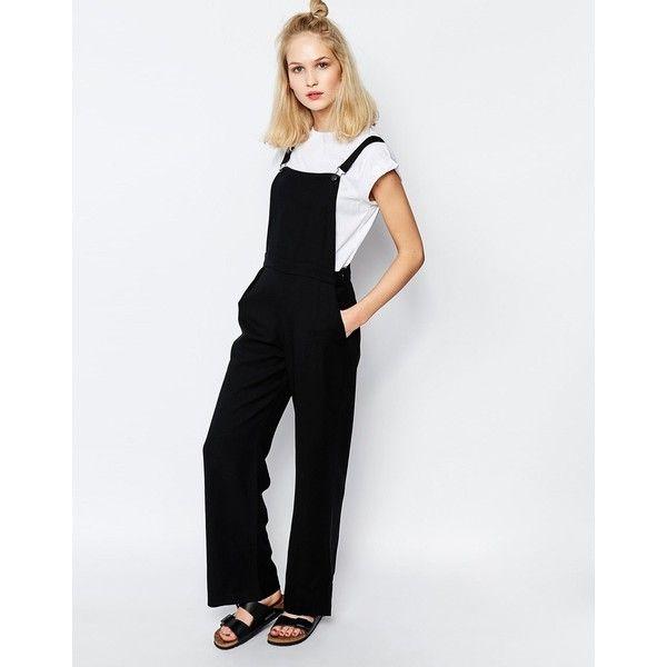 02e4ec59 Samsoe & Samsoe Hojbro Jumpsuit ($127) ❤ liked on Polyvore featuring  jumpsuits, black, playsuit romper, jump suit, tall romper, romper jumpsuit  and ...
