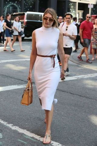 15 photos of street style inspiration for work wear outfits: Gigi Hadid.