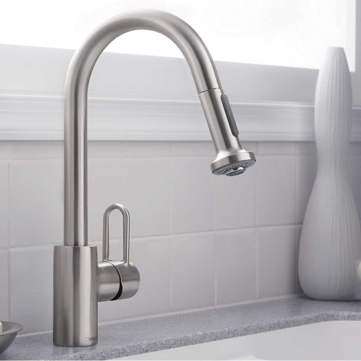 cool New Hansgrohe Allegro E Kitchen Faucet 52 On Interior ...