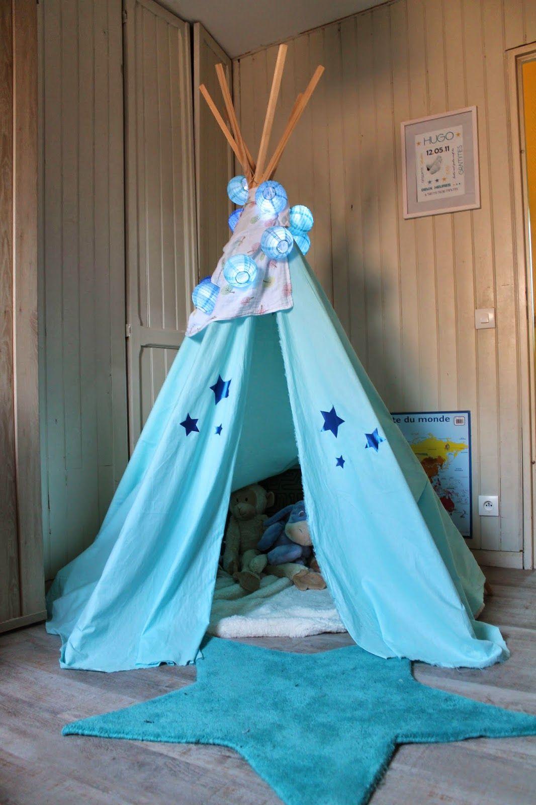 joli tipi bleu diy tipi chambre enfant chambre et enfant. Black Bedroom Furniture Sets. Home Design Ideas