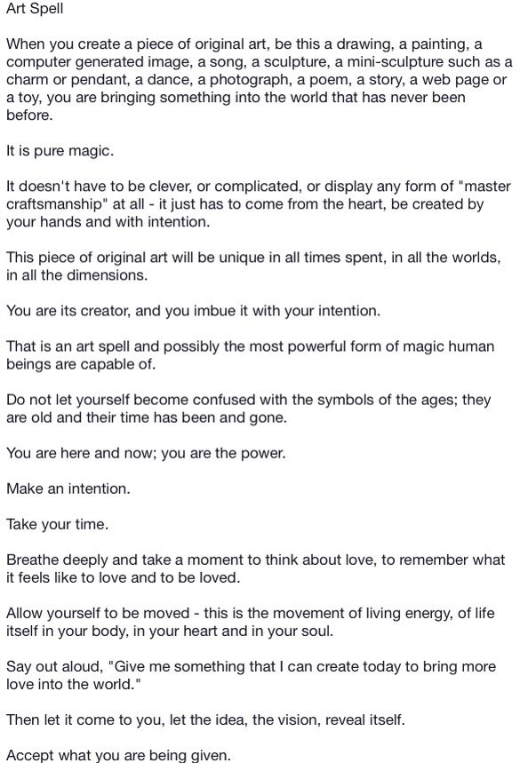 Art spell 1 | Book of shadows must haves | Wiccan witch, Book of