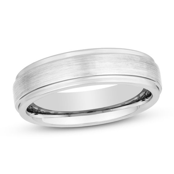 6mm Wedding Band White Tungsten Carbide Jared In 2020 Mens Wedding Bands Tungsten 6mm Wedding Band Wedding Bands