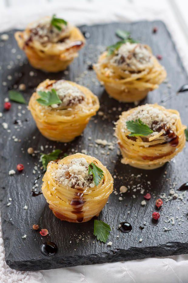 Ausgefallenes Fingerfood: Spaghetti-Muffins