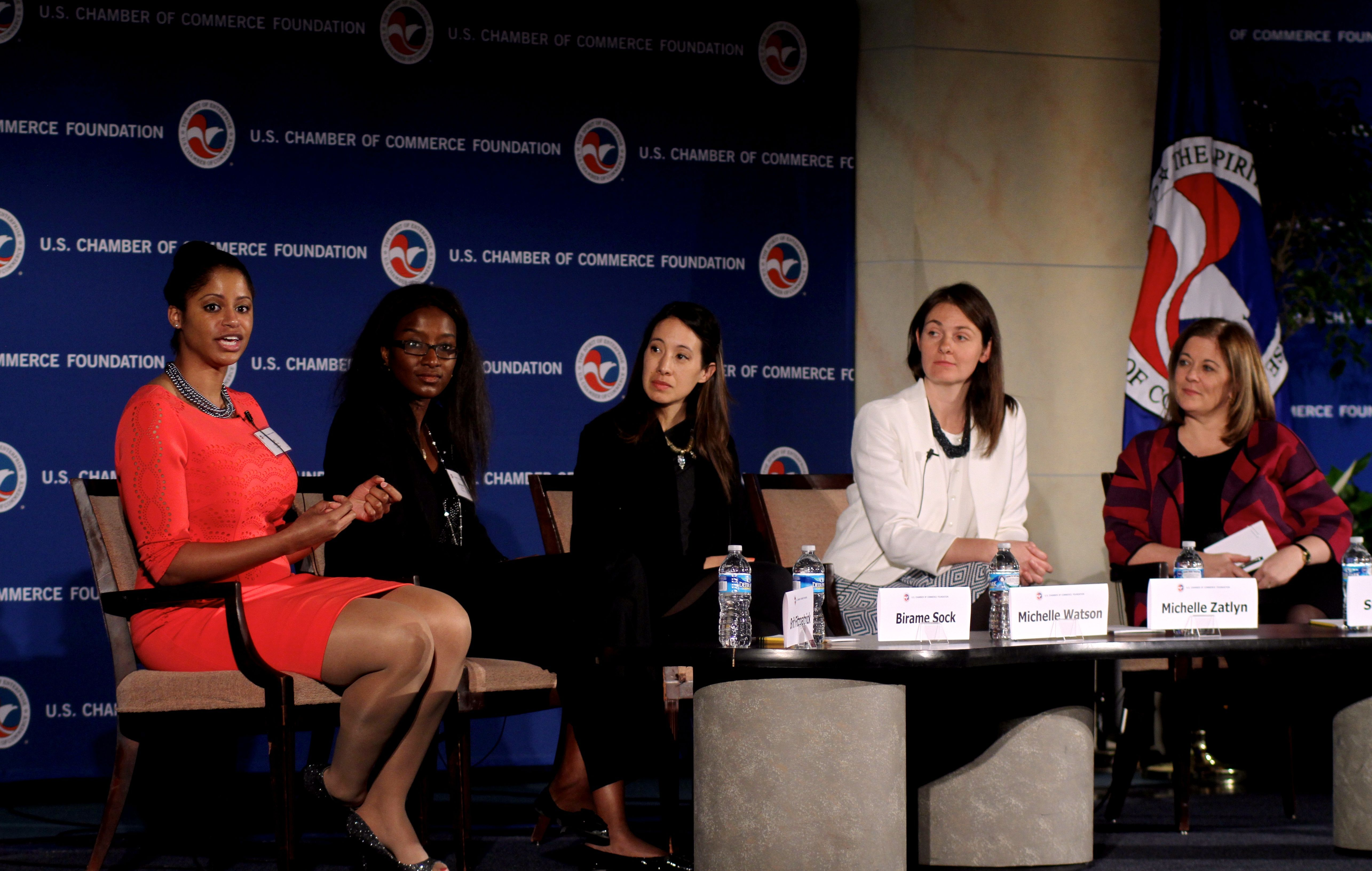 Discussing women in business at the us chamber cwb summit