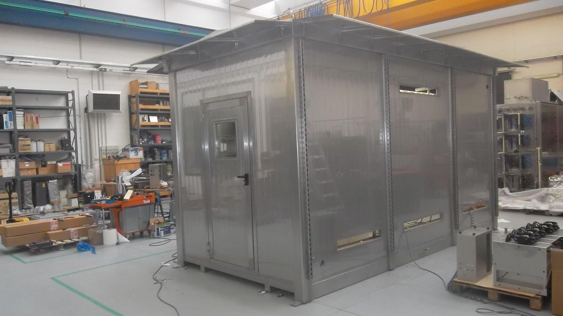 Monoblocco uso SHELTER Inox - AISI 304 Cabina Analisi Dimensioni 500 x 250 x 280h esterna cm
