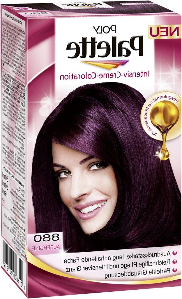 Haarfarbe aubergine