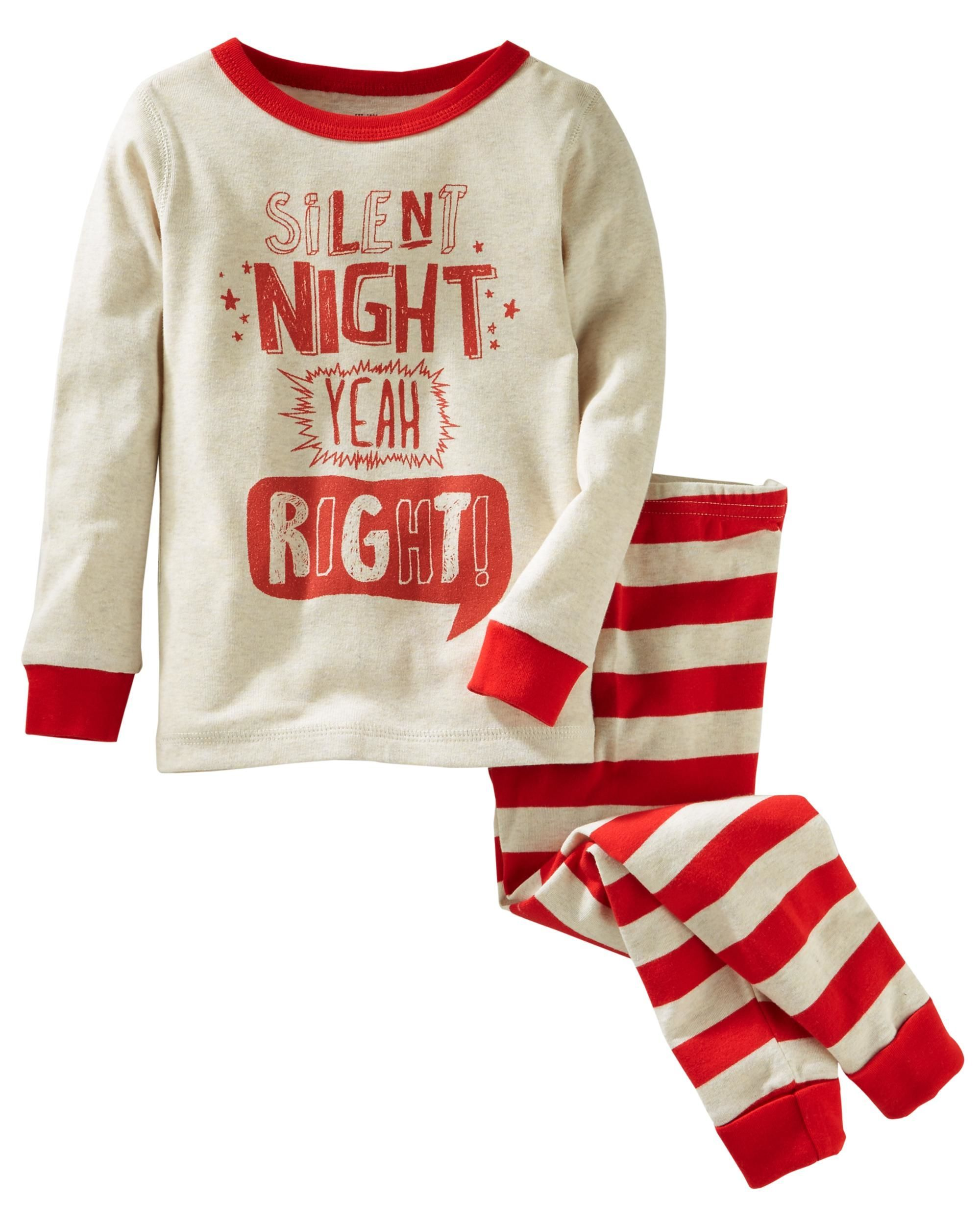 0fce306fa7 2-Piece Silent Night Snug Fit Cotton PJs