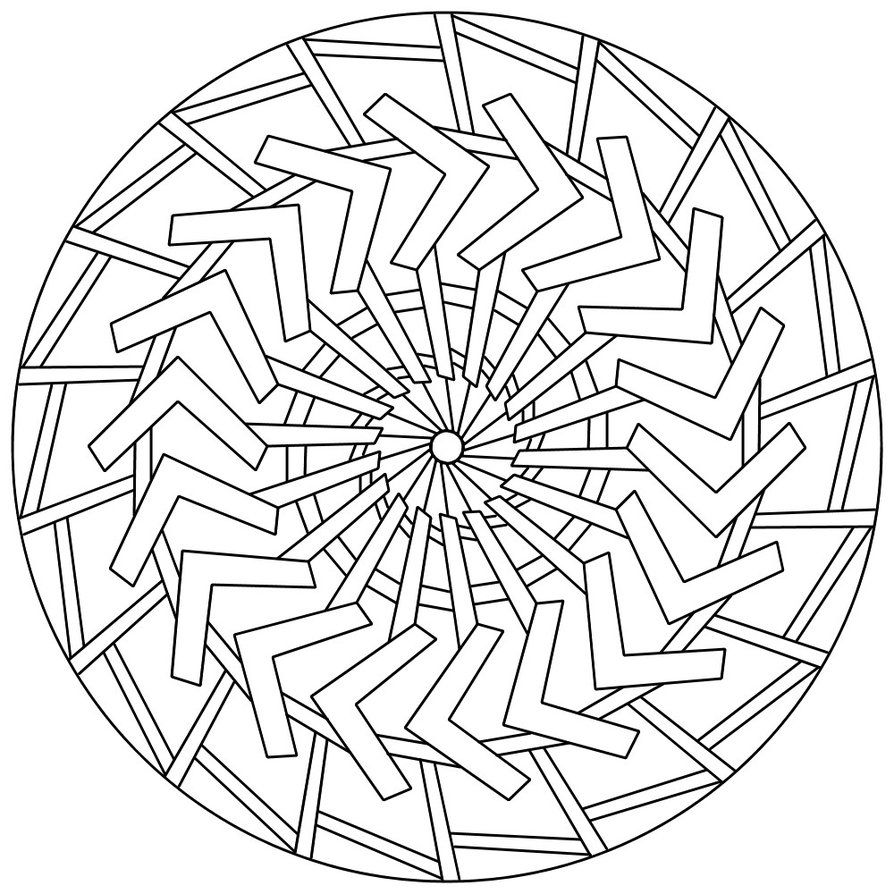 Free Large Mandala Coloring Pages | Mandala 132 by Sadadoki on ...