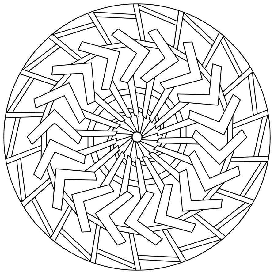 Free Large Mandala Coloring Pages | Mandala 132 by ...