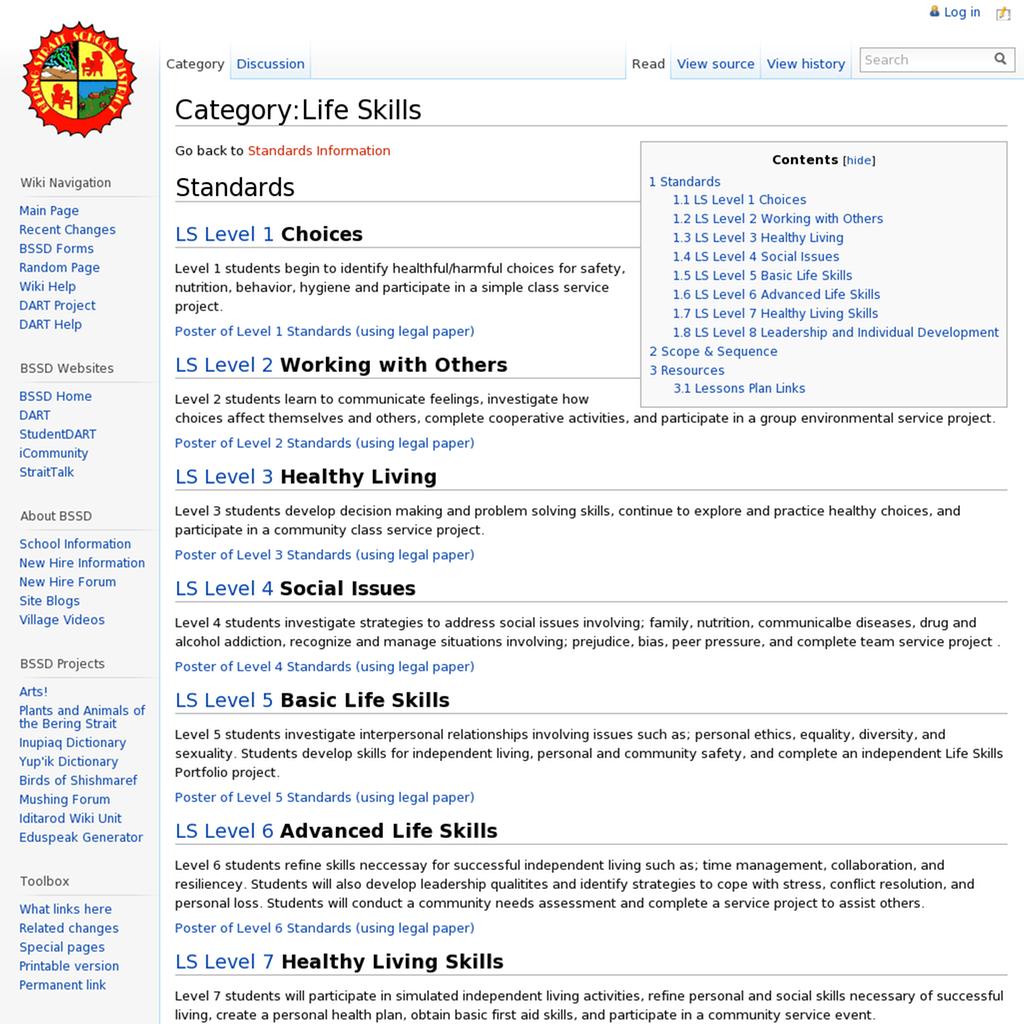 Categories Of Life Skills