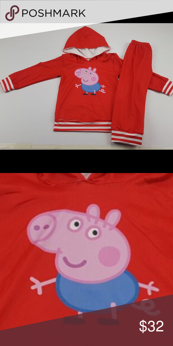 Boutique George Pig From Peppa Pig Hoodie Pants New Boutique