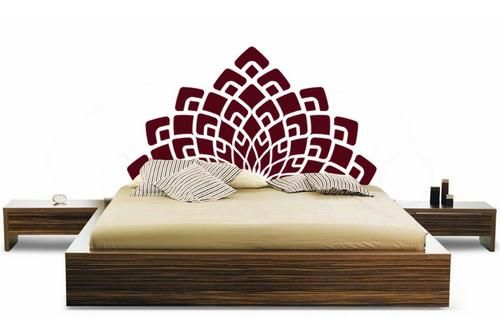 elegant headboard wall decal elegant headboard wall decal – a bed