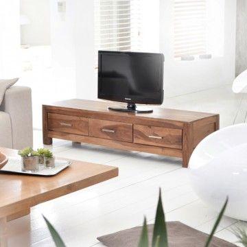 Ce meuble de télévision en palissandre massif mezzo par tikamoon est un meuble en bois massif