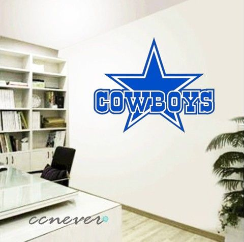 Dallas cowboys sports game removable graphic art wall decals stickers home decor