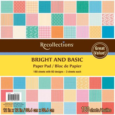 Recollections bright and basic 6x6 180 sheets paper pad my craft recollections bright and basic 6x6 180 sheets paper pad pronofoot35fo Gallery