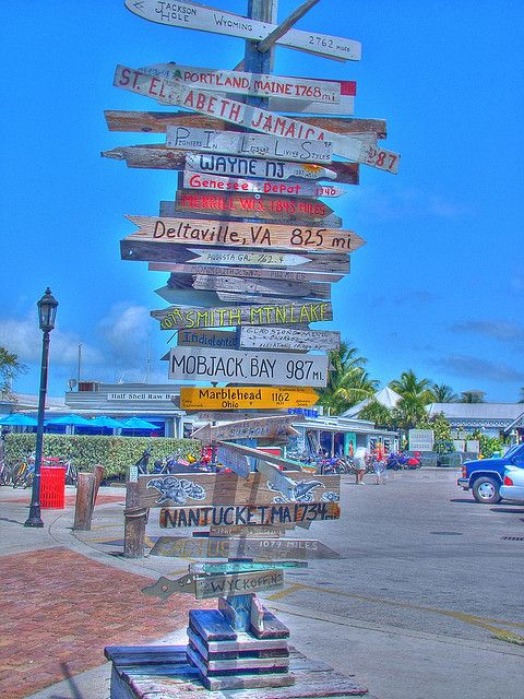 The Sea Is Calling /& I Must Go Key West Florida Sign