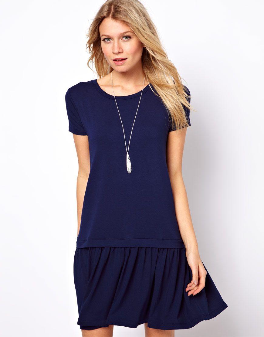 T-Shirt Dress With Drop Waist | style. | Pinterest | Drop waist ...