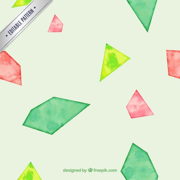 Abstract geometric pattern in watercolor style Free Vector
