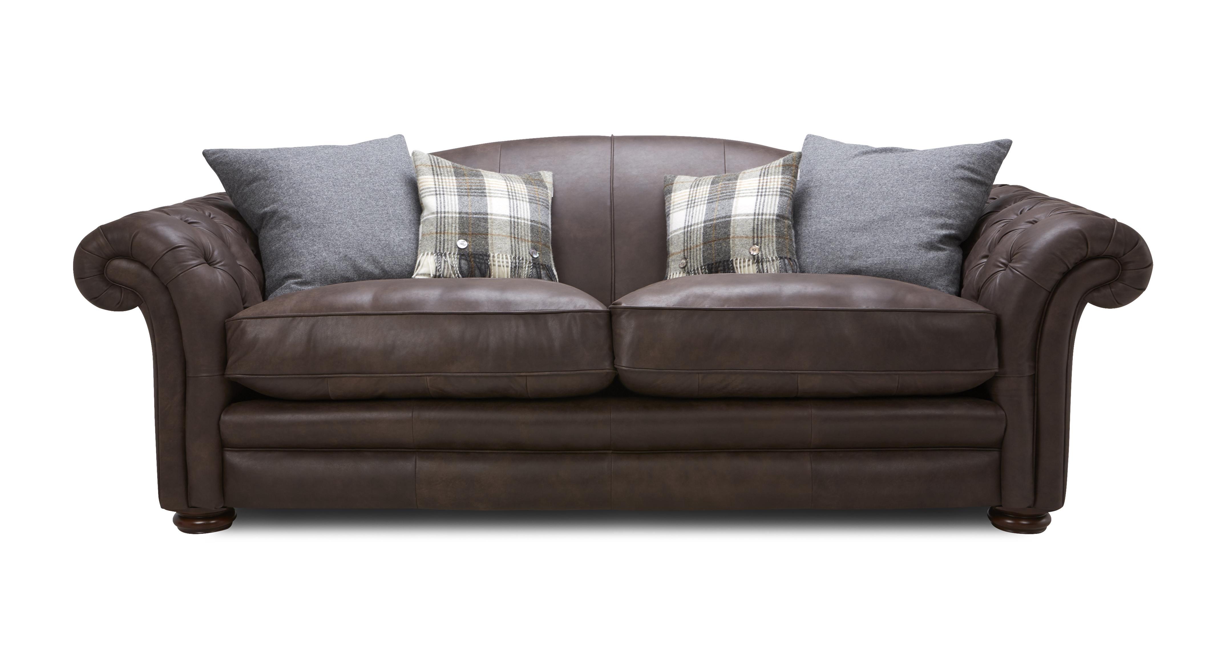 Loch Leven Leather 4 Seater Sofa Sofa Tan Leather Sofas Seater Sofa