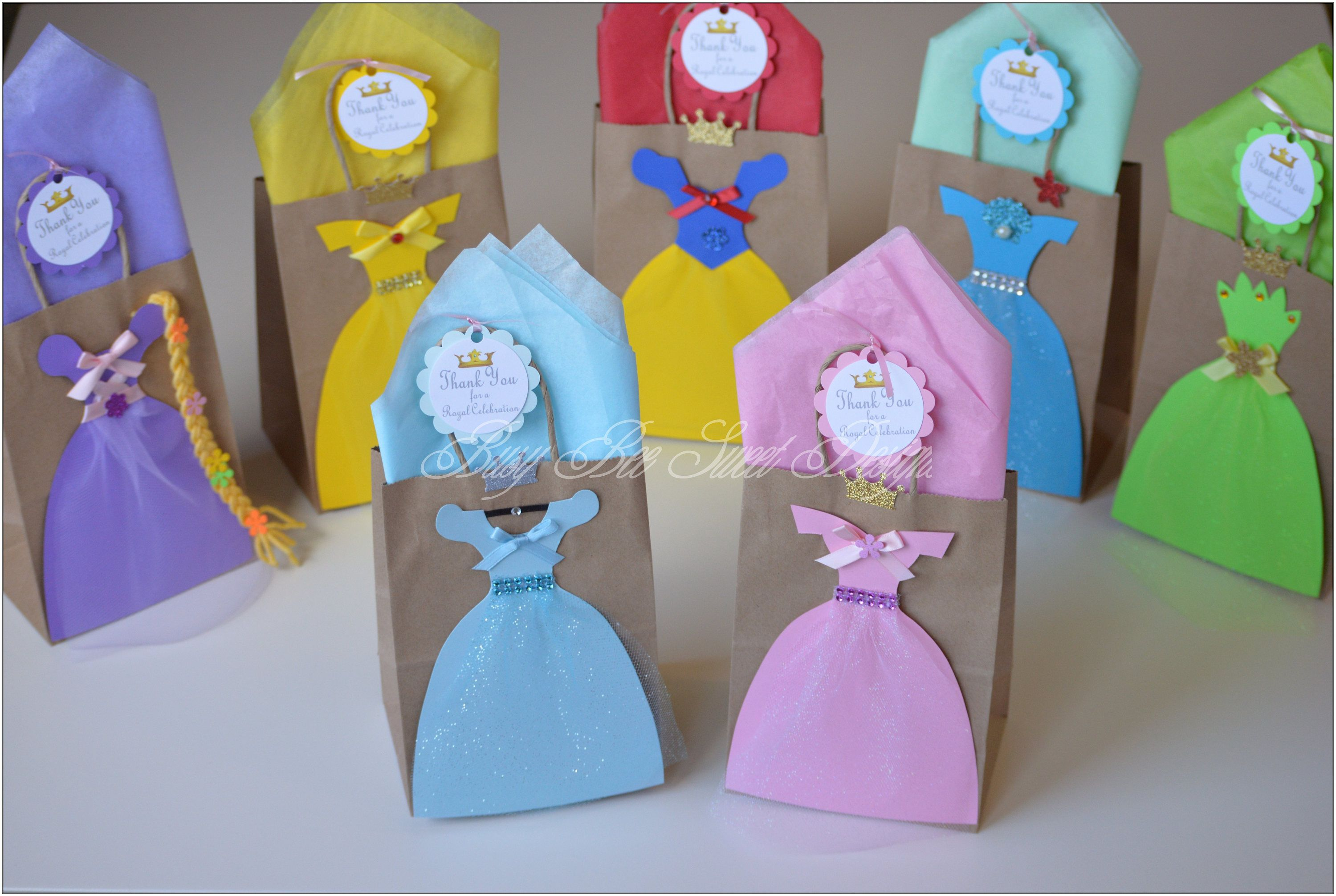 Princess Favor Bags Party Goody Cinderella Belle Snow White