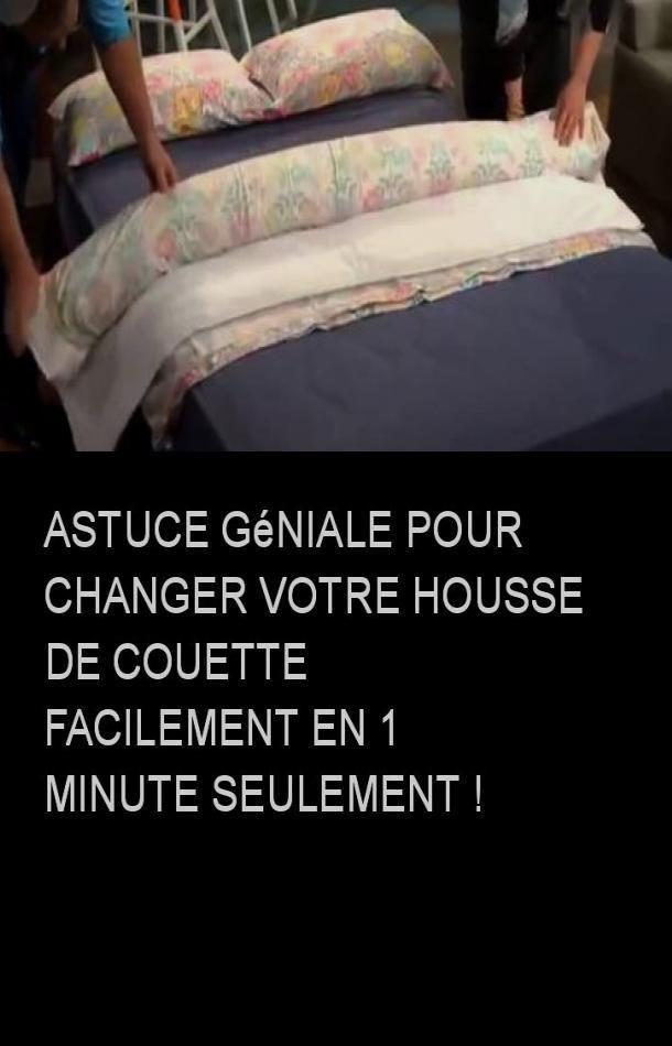 astuce g niale pour changer votre housse de couette. Black Bedroom Furniture Sets. Home Design Ideas