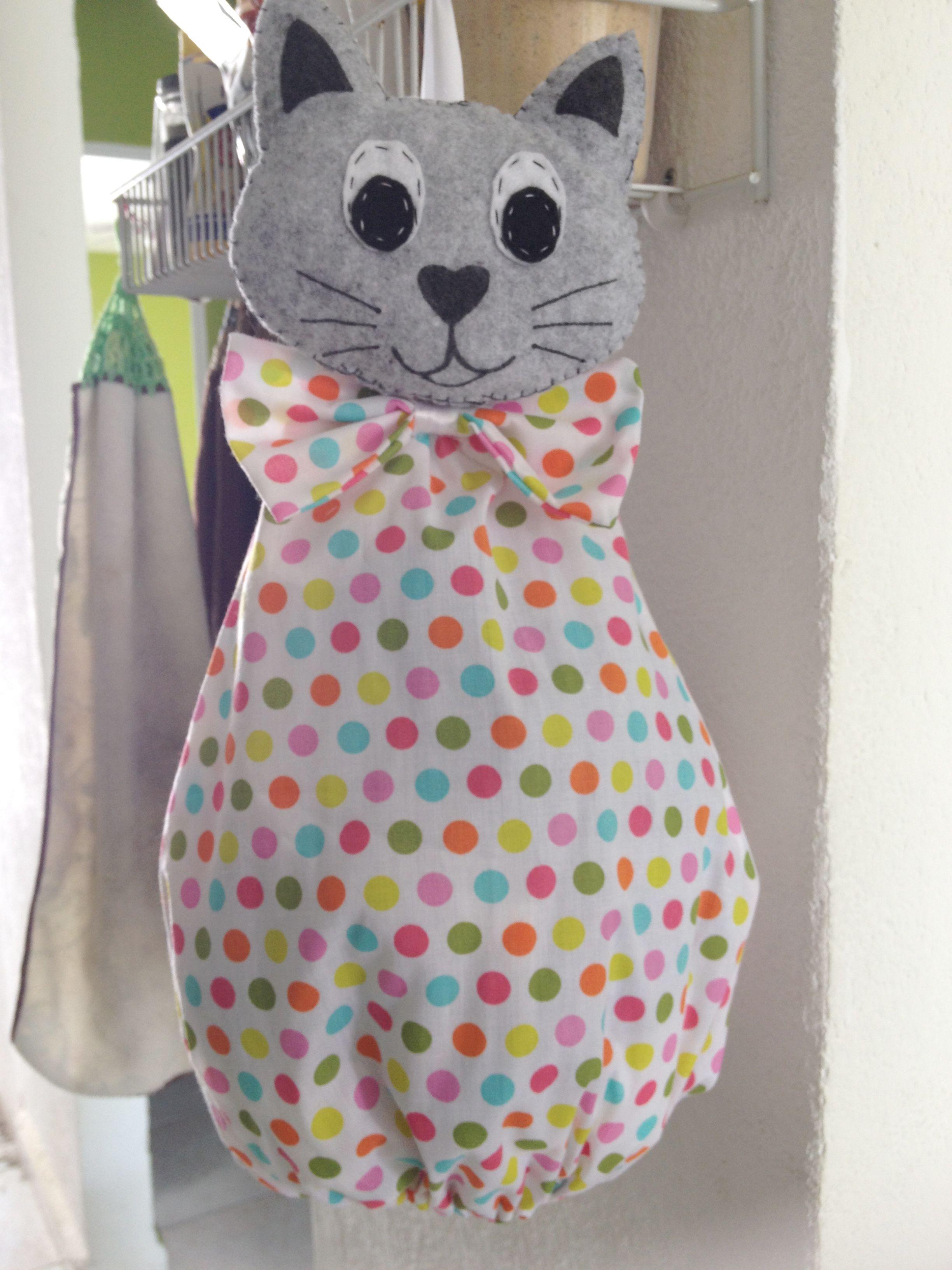 Gato Porta Bolsas De Plastico By Jenny Bolsas De Plástico Artesanías De Tela Manualidades En Tela