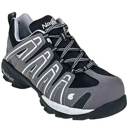 Nautilus Men's Composite Toe N1340 SD Grey Athletic Work Shoes