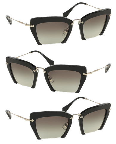 2bcda7c263 Miu Miu Cut-off Cat-Eye Sunglasses