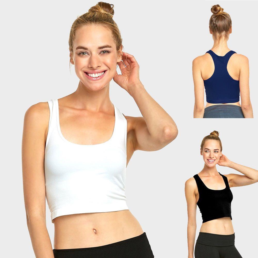 118054c18582b Women sports bra fitness yoga crop tank top stretch razorback spandex  bandeau ❤ jpg 1000x1000 Bmw