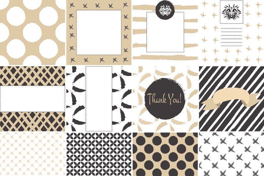 Photo of 12 Card set template. Gold and white , #Ad, #create#patterns#vector#designs #aff…