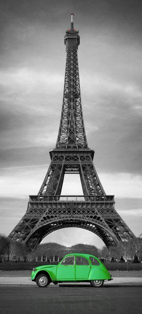 Fototapete »Paris - Türtapete«, Vlies, 2 Bahnen, 90 x 200 cm