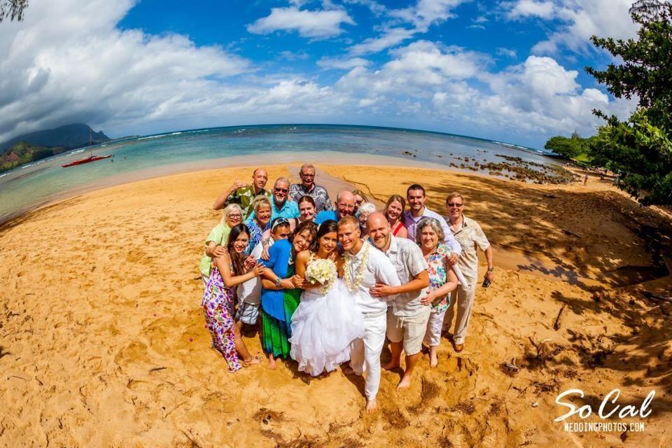 Group Picture Kauai Wedding Beach Destination Planner