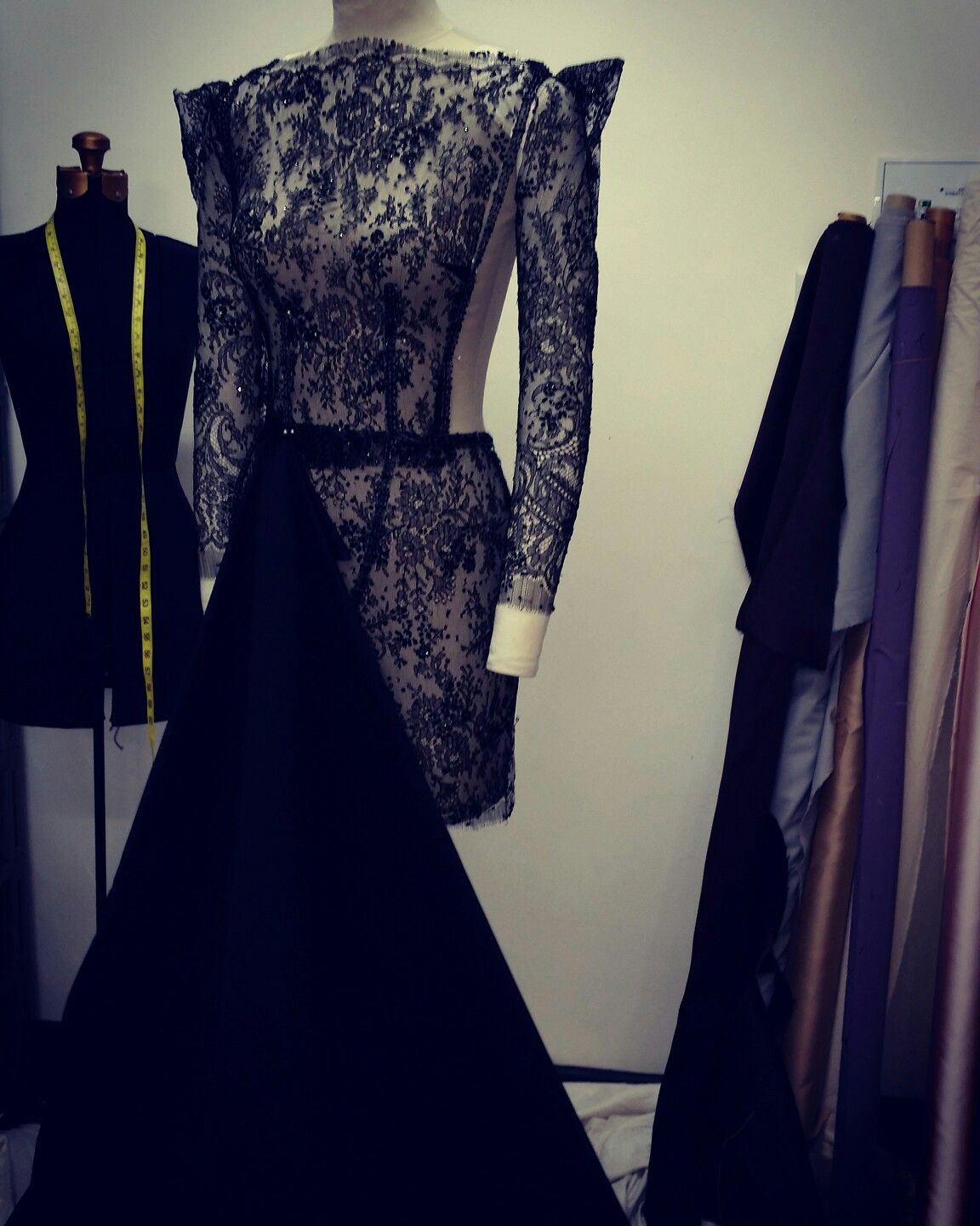 experimentation with black lace gown @somadesign.com.au   soma ...