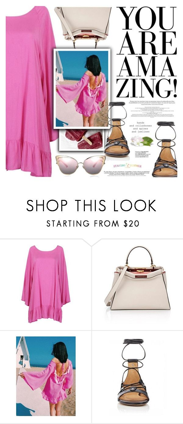 """""""Untitled #2147"""" by defivirda ❤ liked on Polyvore featuring Fendi, easypeasy, summer2016 and stayingsummer"""