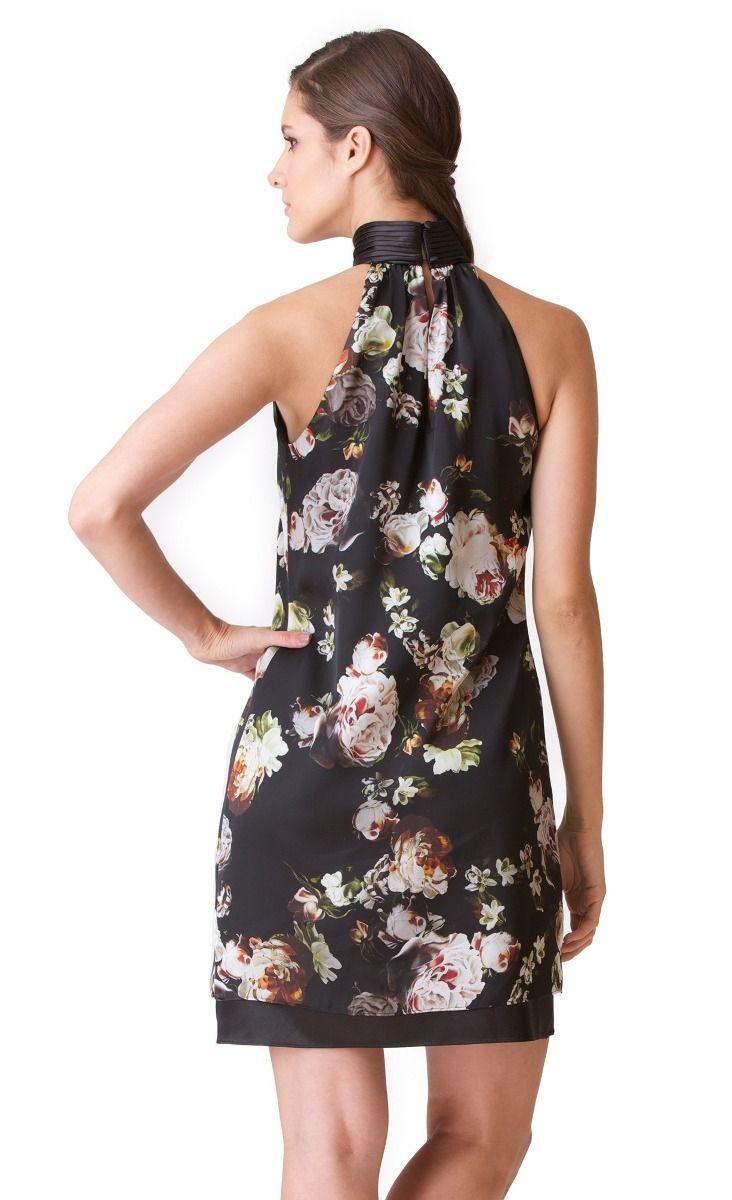 70af243ef vestido floreado cuello halter ivonne | ropa en 2019 | Vestidos ...