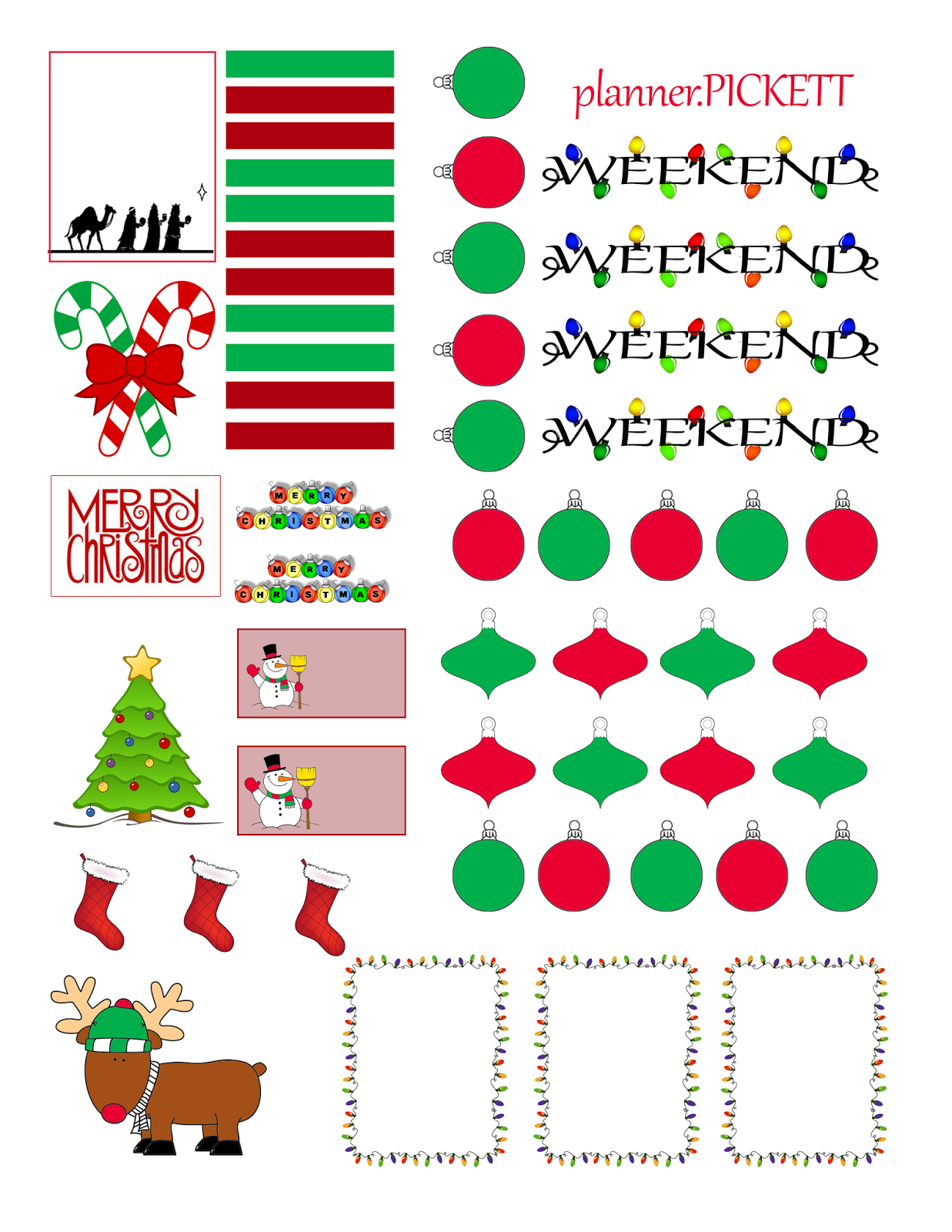 photo about Printable Christmas Stickers called Complete Religion ::..: Xmas Absolutely free Sticker Printable Planners