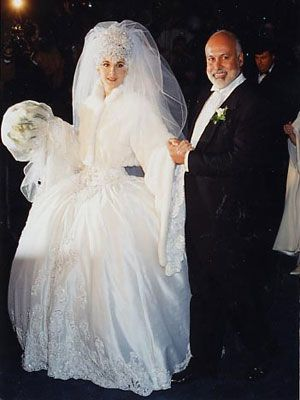 Celine Dion And Rene Angelil 1994 Wedding