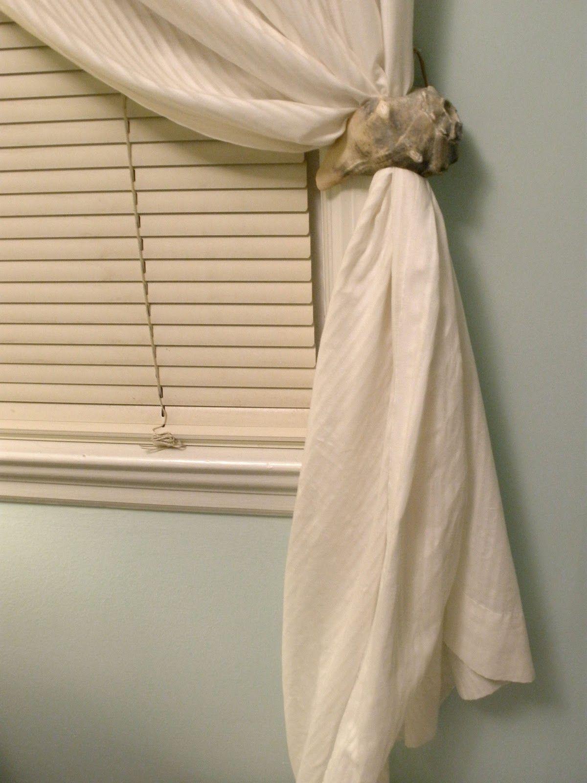DIY conch shell curtain tie back Tiebacks Tassels