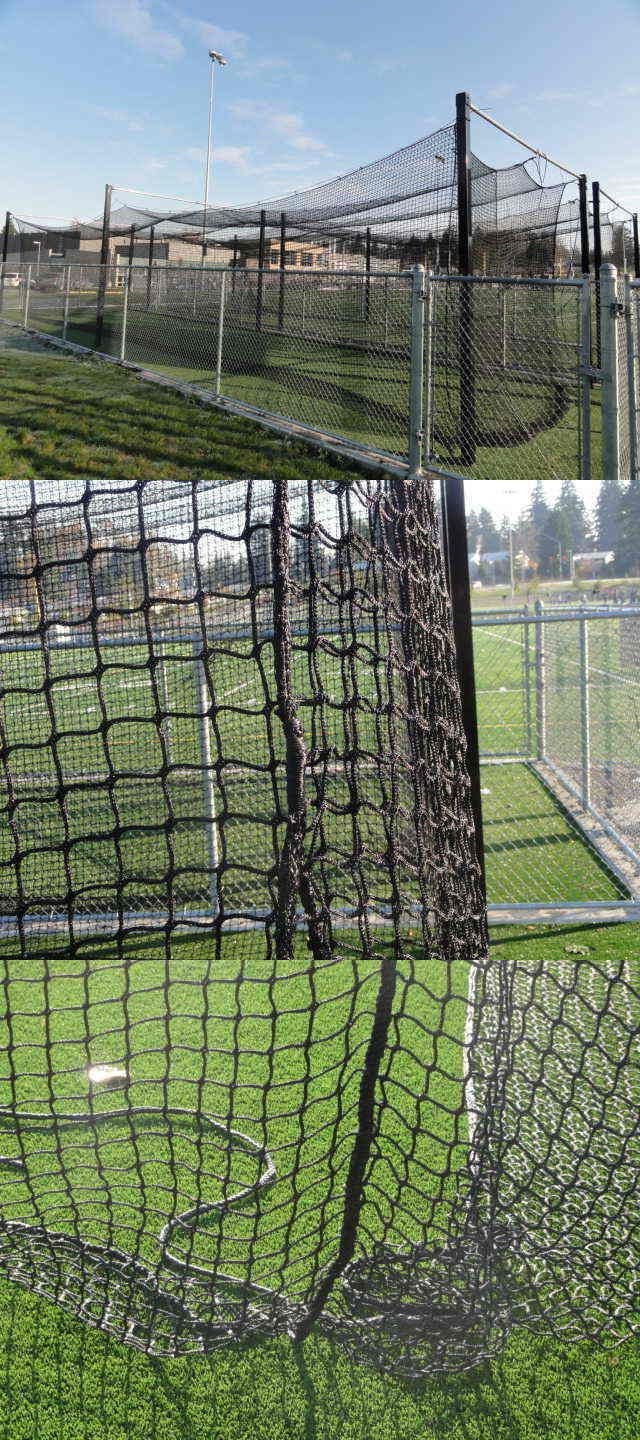batting cages and netting 50809 70 x14 x12 nylon 15 softball