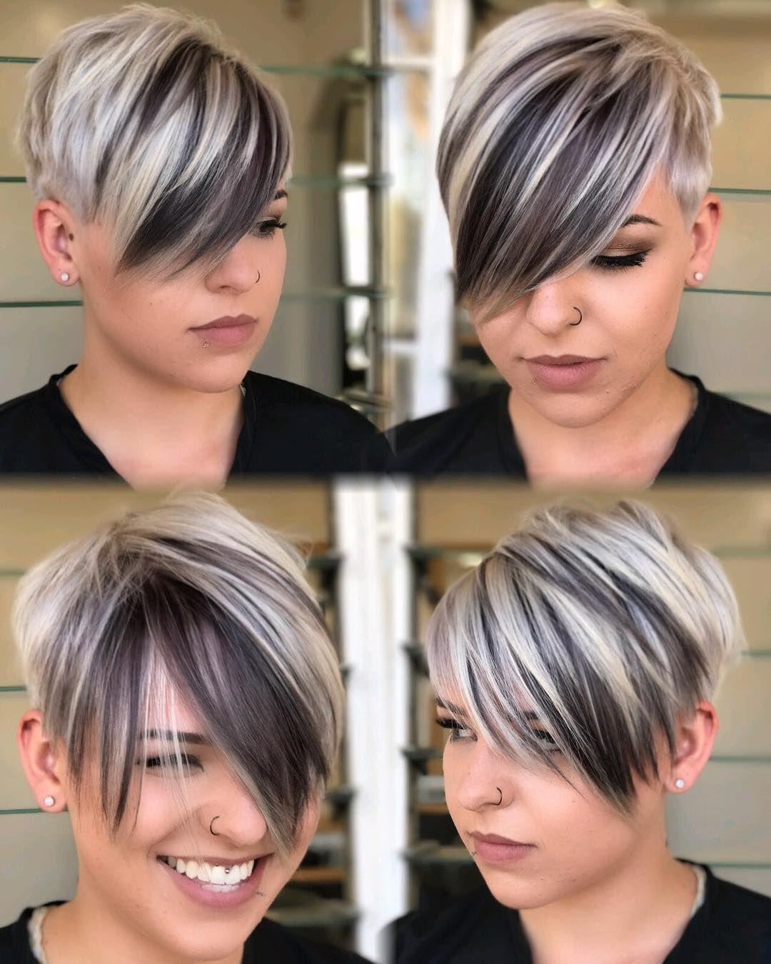 Krótkie fryzury z grzywką asymetryczne undercut propozycje dla