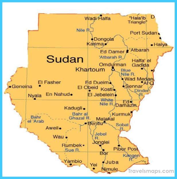 cool Map of Sudan Travelsmaps Pinterest Explore