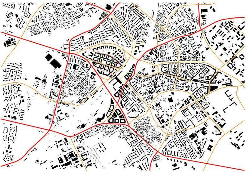 Plan - powiązania komunikacyjne w skali miasta