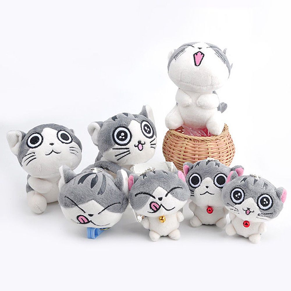 Super Cute Cat Plush Doll Toys Stuffed Animal Bolster Key chain Keyring Hot  Sell  13666ae72f