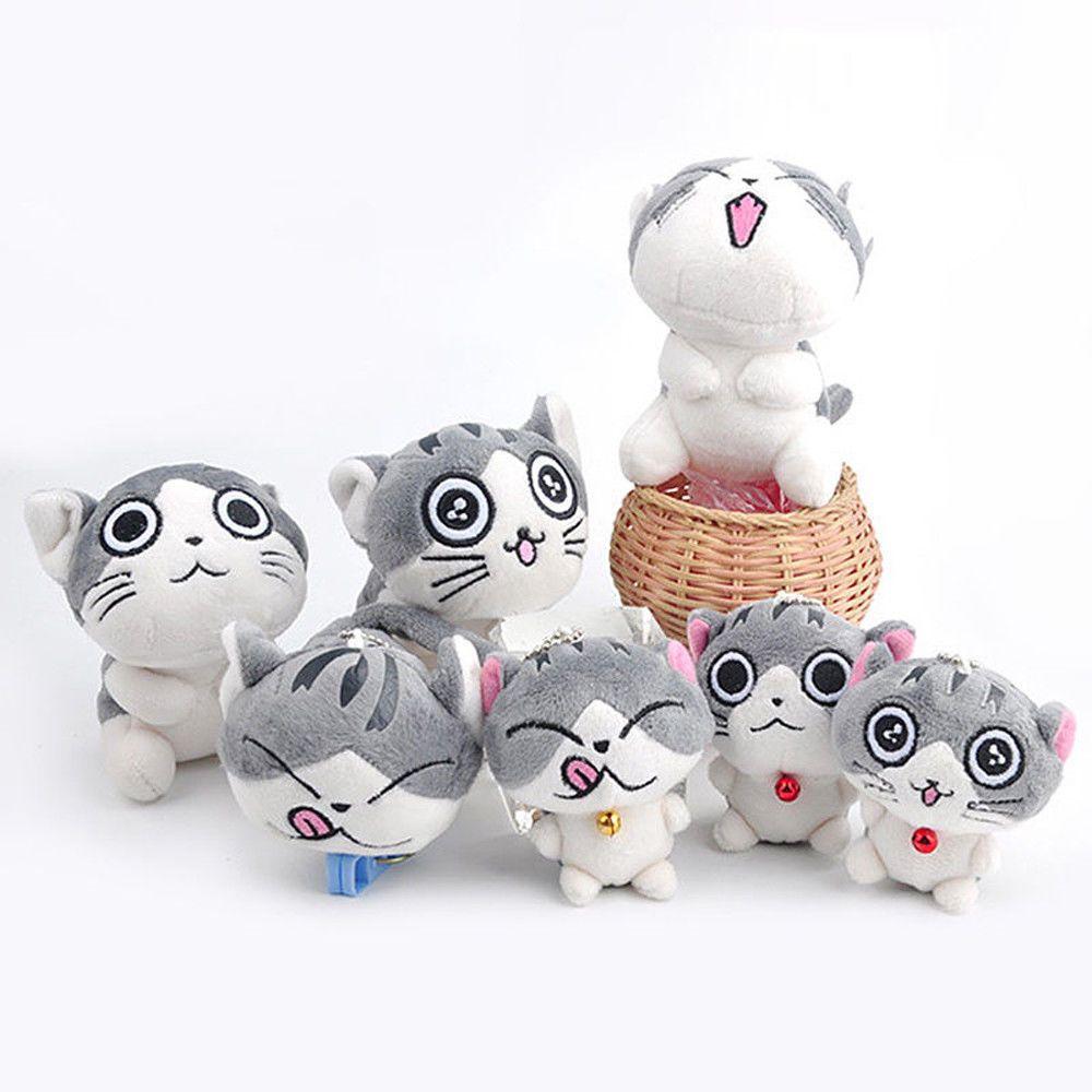 Super Cute Cat Plush Doll Toys Stuffed Animal Bolster Key chain Keyring Hot  Sell  c08694389d