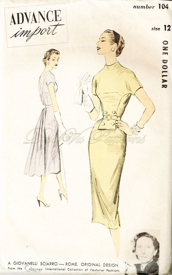 Advance Import 104 Vintage 1950s Giovanelli Sciarro of Rome Designer ...
