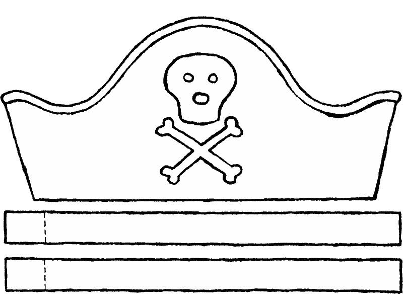 Kleurplaten Piratenhoed.Piratenhoed Kleurprent 01k Thema Piraten Disney Princess Aurora