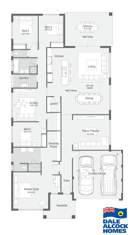 Affinity Ii Dale Alcock Homes Dream House Plans Home Design Floor Plans New House Plans