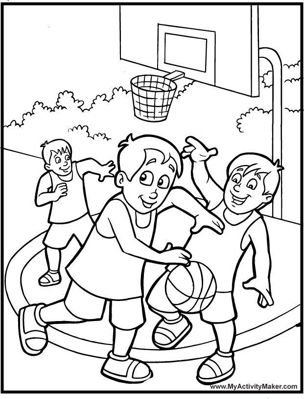 Sport Basketball Coloring Pages Omalovanky Obrazky Deti Obrazky