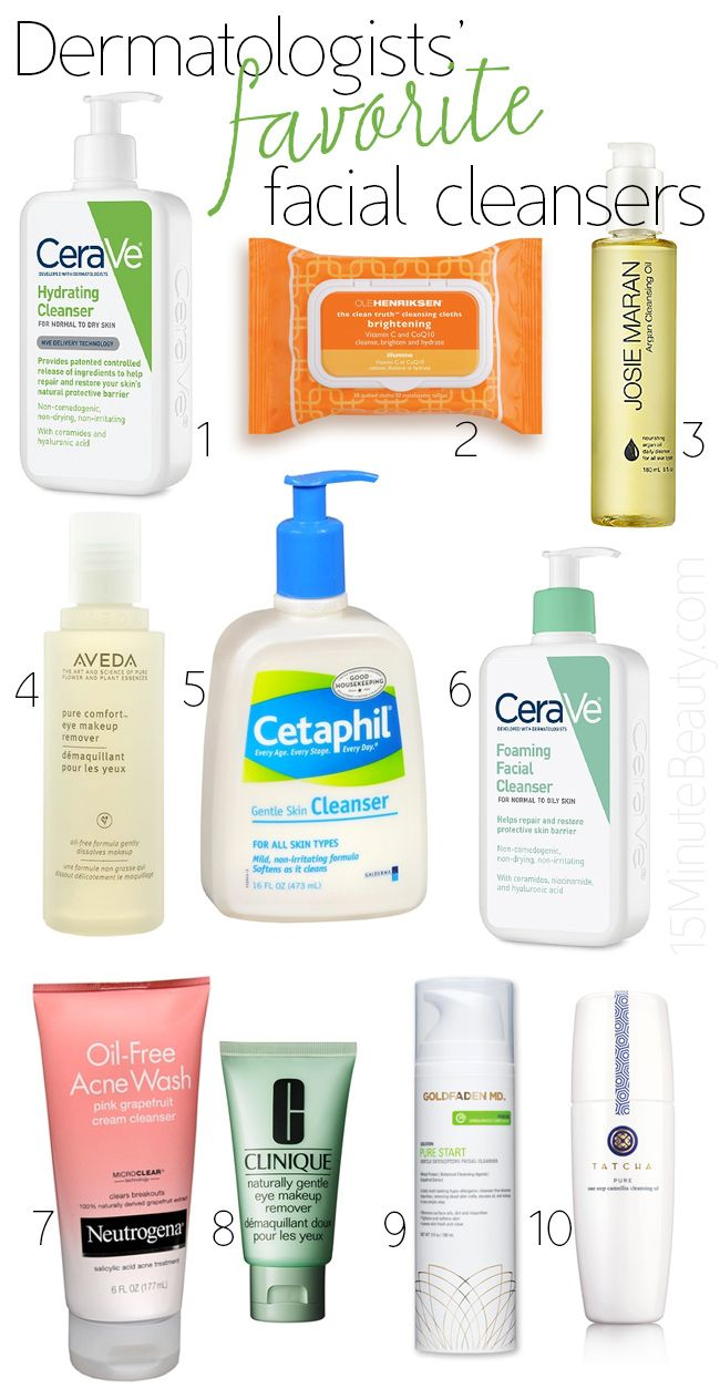 Dermatologistus favorite facial cleansers facial cleansers